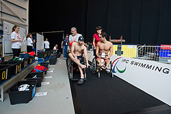 Athletes collecting their belongings  at 2015 IPC Swimming World Championships -