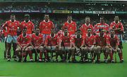 Cork-All-Ireland Hurling Champions 1999. Back Row: Diarmuid O'Sullivan, Brian Corcoran, John Browne, Fergal McCormack, Wayne Sherlock, Donal Og Cusack, Sean Og O'hAilpin. Front Row: Sean McGrath, Michael O'Connell, Fergal Ryan, Ben O'Connor, Mark Landers (capt), Neil Ronan, Tim McCarthy, Joe Deane.