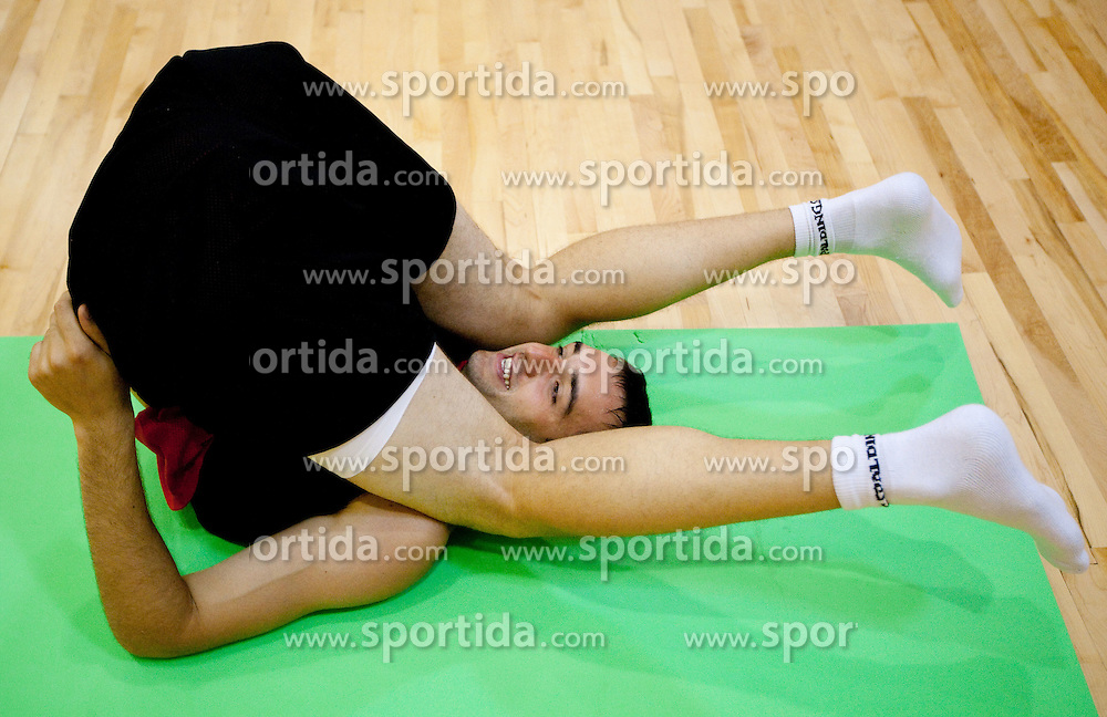 Mirza Begic during practice session of Slovenian National Basketball team during training camp for Eurobasket Lithuania 2011, on July 12, 2011, in Arena Vitranc, Kranjska Gora, Slovenia. (Photo by Vid Ponikvar / Sportida)