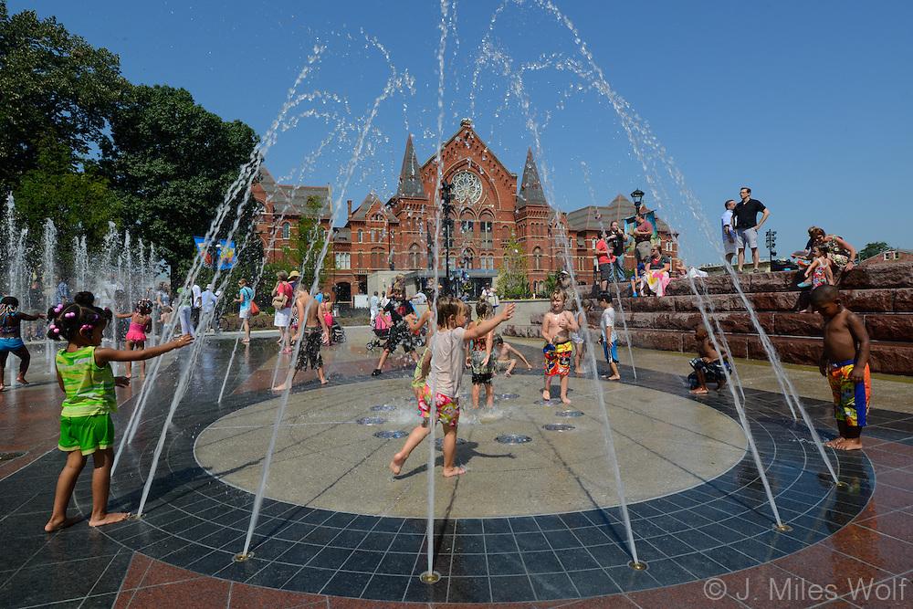 Fountains at Washington Park in Cincinnati