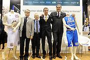 MILANO 17 FEBBRAIO<br /> BASKET <br /> PRESENTAZIONE ALL STAR GAME MILANO<br /> NAZIONALE ITALIANA MASCHILE<br /> NELLA FOTO RENZI PETERSON PIANIGIANI MENEGHIN<br /> FOTO CIAMILLO