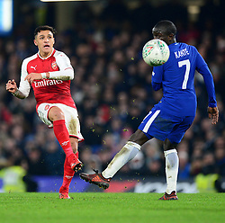 Alexis Sanchez of Arsenal - Mandatory by-line: Alex James/JMP - 10/01/2018 - FOOTBALL - Stamford Bridge - London, England - Chelsea v Arsenal - Carabao Cup semi-final first leg