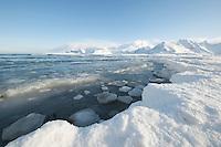 Glacial landscape on on Moskensoy in the Loftofen archipelago Norway