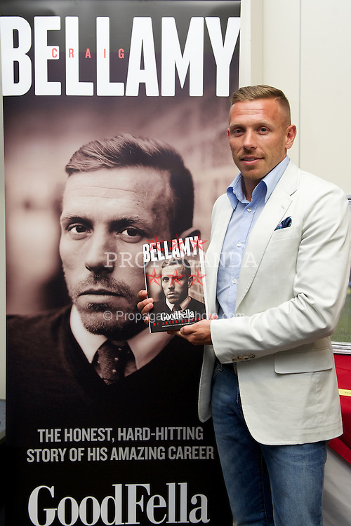 CARDIFF, WALES - Monday, June 3, 2013: Craig Bellamy at the launch of his autobiography Goodfella at the Cardiff City Stadium. (Pic by David Rawcliffe/Propaganda)