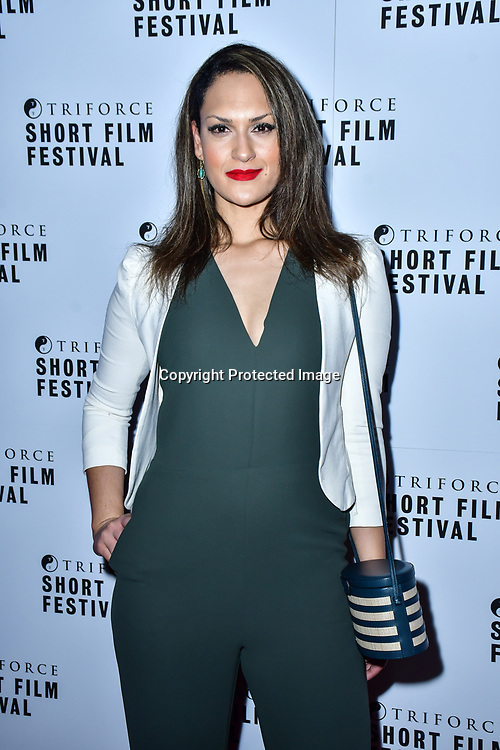 Nicole Peloso attend TriForce Short Festival, on 30 November 2019, at BFI Southbank, London, UK.