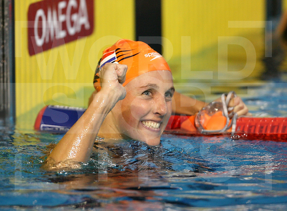 12th Fina World Swimming Championships Melbourne, 2007, 30th March. Marleen Veldhuis wins a Silver Medal in the 100m Freestyle Final..fotografie: frank uijlenbroek©2007Grant Treeby ..