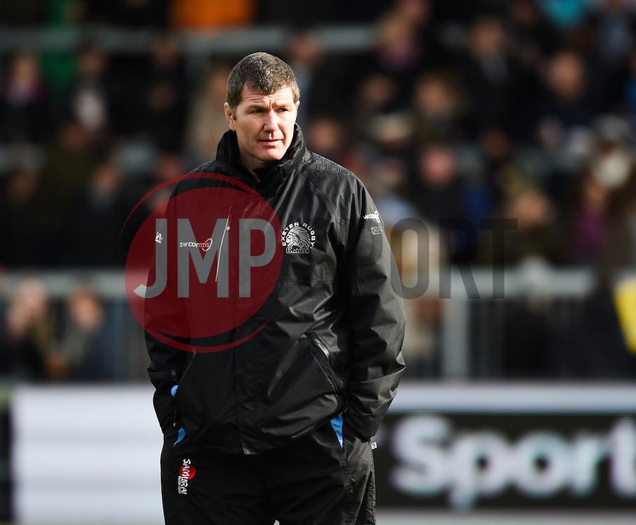 Exeter Head Coach Rob Baxter.  - Mandatory byline: Alex Davidson/JMP - 07/02/2016 - RUGBY - Sandy Park -Exeter,England - Exeter Chiefs v Saracens - Aviva Premiership
