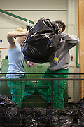 Prisoner working in the prisons recycling centre earn £12 per week.