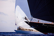 Marie and Ranger sailing in the Old Road Race during the 2011 Antigua Classic Yacht Regatta.