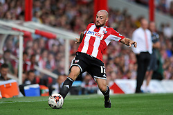 Brentford's Alan McCormack in possession - Photo mandatory by-line: Patrick Khachfe/JMP - Mobile: 07966 386802 09/08/2014 - SPORT - FOOTBALL - Brentford - Griffin Park - Brentford v Charlton Athletic - Sky Bet Championship - First game of the season