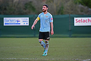 Lewes FC LLoyd Cotton (C) during the Ryman League - Div One South match between Dorking Wanderers and Lewes FC at Westhumble Playing Fields, Dorking, United Kingdom on 28 January 2017. Photo by Jon Bromley.