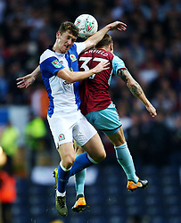 Richard Smallwood of Blackburn Rovers challenges Scott Arfield of Burnley - Mandatory by-line: Matt McNulty/JMP - 23/08/2017 - FOOTBALL - Ewood Park - Blackburn, England - Blackburn Rovers v Burnley - Carabao Cup - Second Round