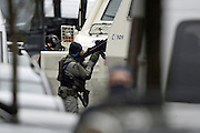 Nov. 16, 2015 - Brussels, BELGIUM - <br /> BRUSSELS, BELGIUM:<br /> <br /> Search for Paris Terror Suspect in Brussels<br /> <br /> Heavily armed special forces pictured during searchings at a house in the Delaunoystraat - Rue Delaunoy in Sint-Jans-Molenbeek / Molenbeek-Saint-Jean, Brussels on Monday 16 November 2015. During the weekend searches were carried out and multiple people were arrested in relation to Friday's terrorist attacks in Paris. Several terrorist attacks in Paris, France, have left at least 129 dead and 350 injured. Most people were killed during a concert in venue Bataclan, the other targets were a restaurant and a soccer game. The attacks have been claimed by Islamic State.<br /> ©Exclusivepix Media