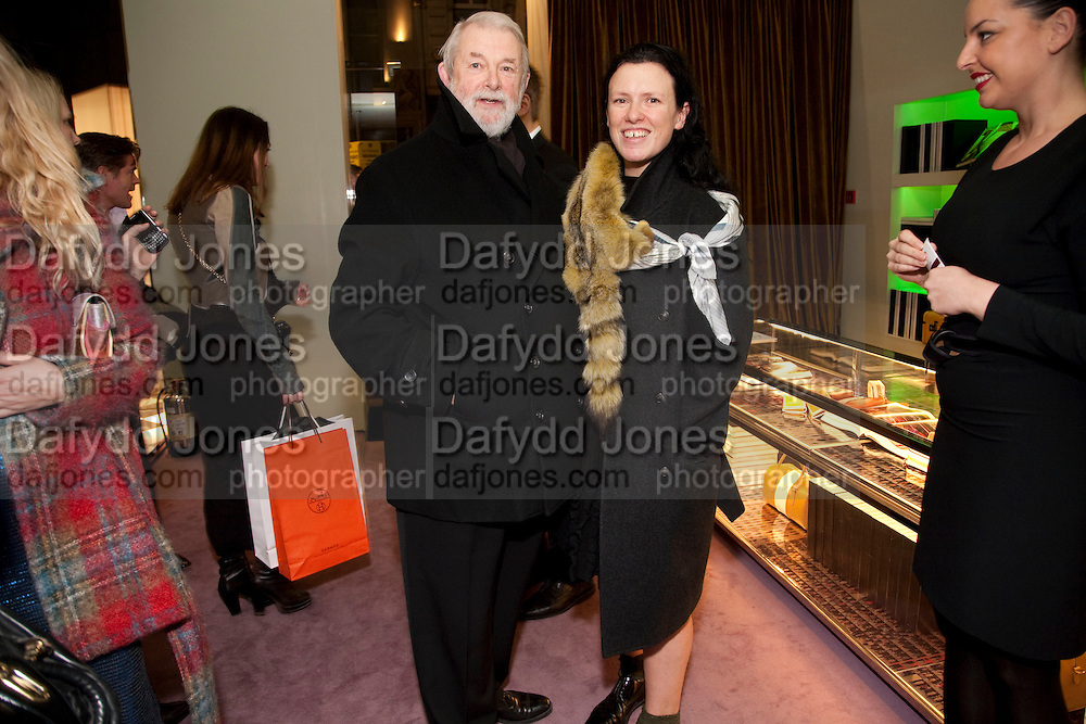 COLIN MCDOWELL; KATIE GRAND, Prada presents a book documenting the company's diverse projects in fashion, architecture, film and art. Prada Shop. 16/18 Old Bond St. London W1. *** Local Caption *** -DO NOT ARCHIVE-© Copyright Photograph by Dafydd Jones. 248 Clapham Rd. London SW9 0PZ. Tel 0207 820 0771. www.dafjones.com.<br /> COLIN MCDOWELL; KATIE GRAND, Prada presents a book documenting the company's diverse projects in fashion, architecture, film and art. Prada Shop. 16/18 Old Bond St. London W1.