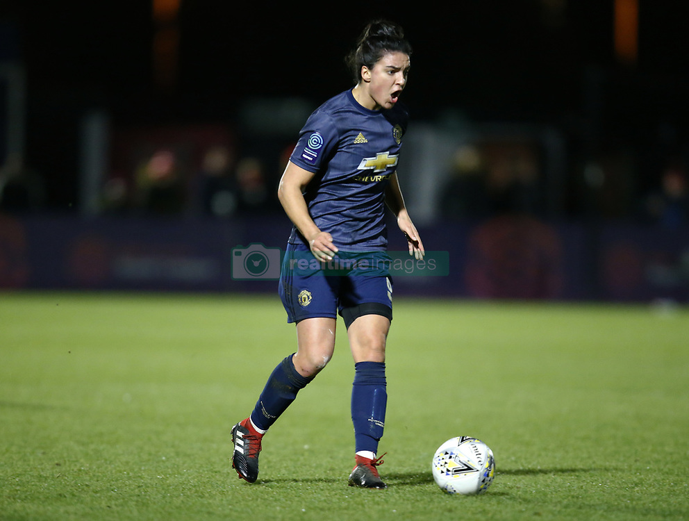 February 7, 2019 - London, England, United Kingdom - Jess Sigsworth of Manchester United Women .during FA Continental Tyres Cup Semi-Final match between Arsenal and Manchester United Women FC at Boredom Wood on 7 February 2019 in Borehamwood, England, UK. (Credit Image: © Action Foto Sport/NurPhoto via ZUMA Press)