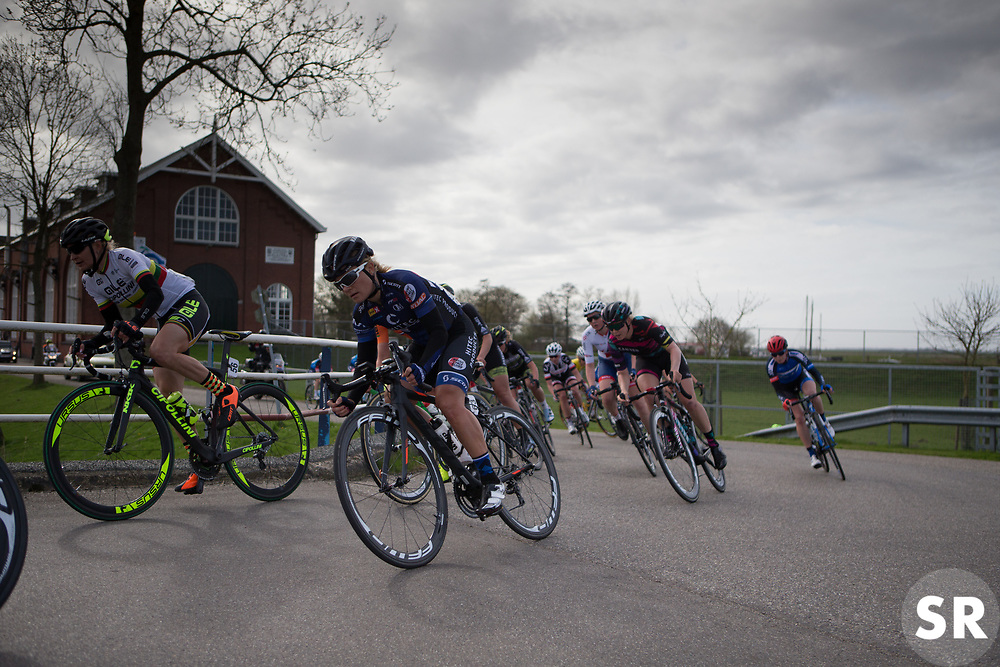 Emilie Moberg (NOR) of Hitec Products Cycling Team rides mid-pack during Stage 1b of the Healthy Ageing Tour - a 77.6 km road race, starting and finishing in Grijpskerk on April 5, 2017, in Groeningen, Netherlands.