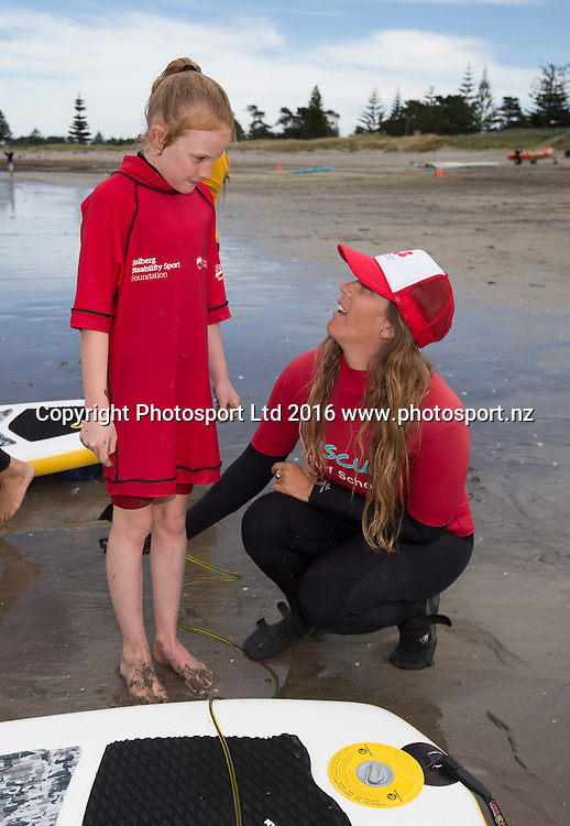 Stevie Durston, 8. Flight Centre Foundation Halberg Water Sports Day, Waikanae Beach, Gisborne, New Zealand. Saturday, 26 November, 2016. Copyright photo: John Cowpland / www.photosport.nz