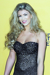 © Licensed to London News Pictures. 09/01/2014, UK. Amy Willerton, The Wolf of Wall Street - UK film premiere, Odeon Leicester Square, London UK, 09 January 2014. Photo credit : Richard Goldschmidt/Piqtured/LNP