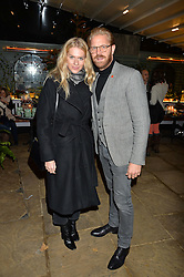 The Ivy Chelsea Garden's Guy Fawkes Party & Launch of The Winter Garden was held on 5th November 2016.<br /> Picture shows:- ALISTAIR GUY and BARBORA BEDIOVA.