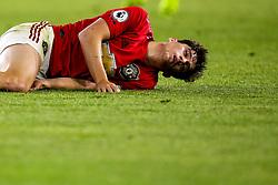 Daniel James of Manchester United looks in pain - Mandatory by-line: Robbie Stephenson/JMP - 19/08/2019 - FOOTBALL - Molineux - Wolverhampton, England - Wolverhampton Wanderers v Manchester United - Premier League