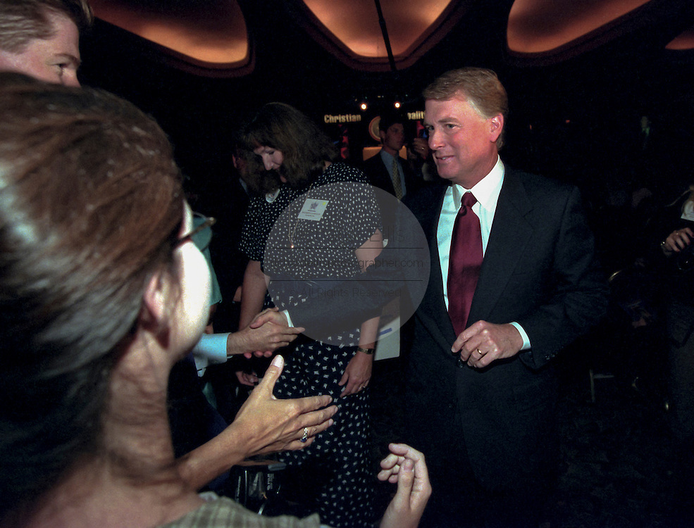 Former Republican Vice President Dan Quayle attends the Road to Victory event at the Christian Coalition Conference September 19, 1998 in Washington, DC.