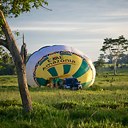 Voyage ne montgolfière en Amazonie  Viajem de balao na Amazonia com Cassiano Marquez.