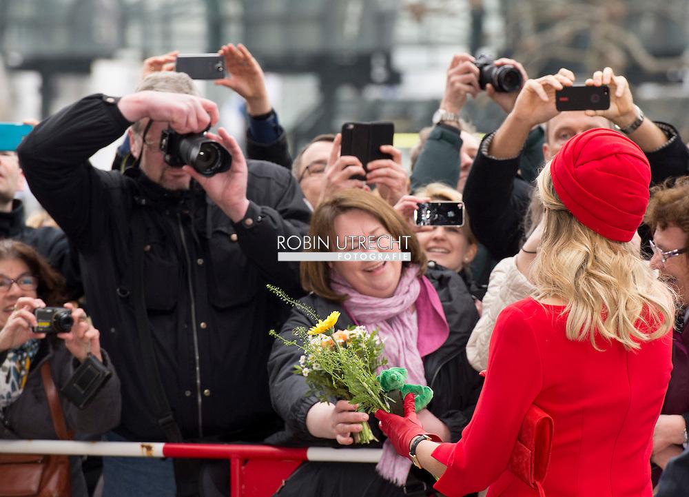 20-3-2015 - HAMBURG  - King Willem-Alexander and Queen Maxima.  King Willem-Alexander and Queen Maxima in Sleeswijk- Holstein and Hamburg COPYRIGHT ROBIN UTRECHT