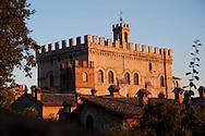 Gubbio, Palazzo dei Consoli al tramonto