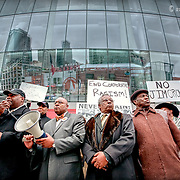 Protest in front of Sprint Center. Kansas City, MO, 2010.
