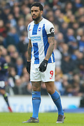 Brighton and Hove Albion striker Jurgen Locadia (9) during the The FA Cup 5th round match between Brighton and Hove Albion and Derby County at the American Express Community Stadium, Brighton and Hove, England on 16 February 2019.