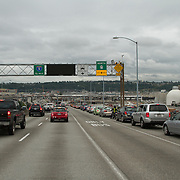 Traffic on the West Seattle Bridge.