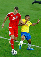 Sergej Milinkovic-Savic (Serbia) and Jesus Gabriel (Brazil)<br /> Moscow 27-06-2018 Football FIFA World Cup Russia  2018 <br /> Serbia - Brazil / Serbia - Brasile<br /> Foto Matteo Ciambelli/Insidefoto