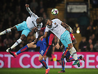 Football - 2016 / 2017 Premier League - Crystal Palace vs. West Ham United<br /> <br /> Angelo Ogbonna and Winston Reid clear the danger at Selhurst Park.<br /> <br /> COLORSPORT/ANDREW COWIE