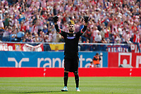 Atletico de Madrid´s Moya celebrates a goal during 2014-15 La Liga Atletico de Madrid V Espanyol match at Vicente Calderon stadium in Madrid, Spain. October 19, 2014. (ALTERPHOTOS/Victor Blanco)