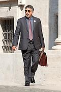 2013/04/19 Roma, arrivo dei grandi elettori in Parlamento, per la terza giornata di votazioni per l'elezione del Presidente della Repubblica. Nella foto Bartolomeo Pepe.<br /> Rome, arrivals of electors to Parliament, for the second election day of the President of the Republic. In the picture Bartolomeo Pepe - &copy; PIERPAOLO SCAVUZZO