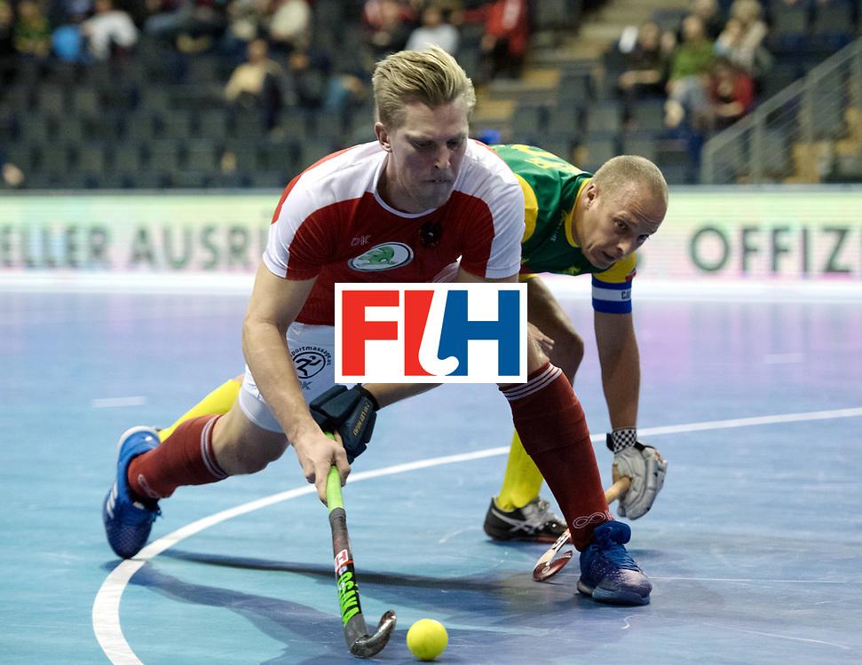 BERLIN - Indoor Hockey World Cup<br /> Austria - South Africa<br /> foto: K&Ouml;RPER Michael<br /> WORLDSPORTPICS COPYRIGHT FRANK UIJLENBROEK