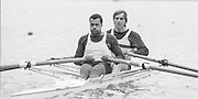 Nottingham. United Kingdom. <br /> Stroke, Evol GRAHAM and J. BURCH<br /> Nottingham International Regatta, National Water Sport Centre, Holme Pierrepont. England<br /> <br /> 31.05.1986 to 01.06.1986<br /> <br /> [Mandatory Credit: Peter SPURRIER/Intersport images] 1986 Nottingham International Regatta, Nottingham. UK