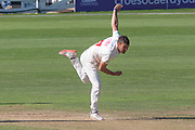 Lukas Carey bowling during the Specsavers County Champ Div 2 match between Glamorgan County Cricket Club and Leicestershire County Cricket Club at the SWALEC Stadium, Cardiff, United Kingdom on 19 September 2019.