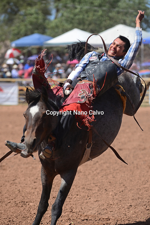 Rodeo competition during Navajo Nation Fair, a world-renowned event that showcases Navajo Agriculture, Fine Arts and Crafts, with the promotion and preservation of the Navajo heritage by providing cultural entertainment. Window Rock, Arizona.