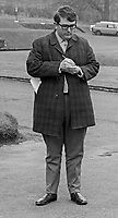 George Hamilton, sometime reporter, journalist, press officer, Belfast, N Ireland, April 1969, 196904000162GH<br /> <br /> Copyright Image from Victor Patterson, 54 Dorchester Park, Belfast, UK, BT9 6RJ<br /> <br /> t1: +44 28 9066 1296<br /> t2: +44 28 9002 2446<br /> m: +44 7802 353836<br /> <br /> e1: victorpatterson@me.com<br /> e2: victorpatterson@gmail.com<br /> <br /> IMPORTANT: My Terms and Conditions of Business are at www.victorpatterson.com