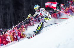 """29.01.2019, Planai, Schladming, AUT, FIS Weltcup Ski Alpin, Slalom, Herren, 1. Lauf, im Bild Felix Neureuther (GER) // Felix Neureuther of Germany in action during his 1st run of men's Slalom """"the Nightrace"""" of FIS ski alpine world cup at the Planai in Schladming, Austria on 2019/01/29. EXPA Pictures © 2019, PhotoCredit: EXPA/ JFK"""