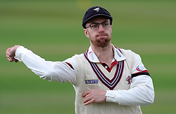 Somerset's Jack Leach - Photo mandatory by-line: Harry Trump/JMP - Mobile: 07966 386802 - 04/04/15 - SPORT - CRICKET - Pre Season - Day 3 - Somerset v Durham MCCU - Taunton Vale, Somerset, England.