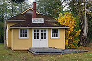 The historic Lochiel Schoolhouse at Campbell Valley Regional Park in  in Langley, British Columbia, Canada