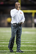 NEW ORLEANS, LA - SEPTEMBER 20:  Head Coach Lovie Smith of the Tampa Bay Buccaneers yells during a game against the New Orleans Saints at Mercedes-Benz Superdome on September 20, 2015 in New Orleans Louisiana.  The Buccaneers defeated the Saints 26-19. (Photo by Wesley Hitt/Getty Images) *** Local Caption *** Lovie Smith