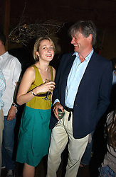RITA KONIG and the MARQUESS OF WORCESTER at a party to celebrate the publication of Title Deeds by Liza Campbell at the First Floor, 186 Portobello Road, London on 14th June 2006.<br />