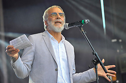 © Licensed to London News Pictures. 02/07/2017. London, UK. Yusuf Islam (formerly known as Cat Stevens) gives a speech.  People celebrate the EID Festival in Trafalgar Square, an event hosted by The Mayor of London.  The Mayor's festival takes place in the square one week after the end of Ramadan and includes a variety of stage performances and cultural activities. Photo credit : Stephen Chung/LNP