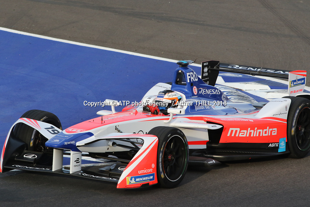 19, Felix Rosenqvist (SWE) - Mahindra Racing, Mahindra M4 ELECTRO, race winner in Marrakesh, <br /> E-Prix, FIA Formula E, Formula E Grand Prix in Marrakesh, Morocco on 13 January 2018. Circuit International Automobile Moulay El Hassan -  Formel E, Elektro e-prix Autorennen, Marrakesch, Marokko, Maroc, <br /> fee liable image, copyright@ ATP Arthur THILL