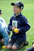 Cricket Fan with cricket ball at the National Bank's Cricket Super Camp , University oval, Dunedin, New Zealand. Thursday 2 February 2012 . Photo: Richard Hood photosport.co.nz