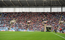 Bristol city fans fill the away end  - Photo mandatory by-line: Joe Meredith/JMP - Mobile: 07966 386802 - 18/10/2014 - SPORT - Football - Coventry - Ricoh Arena - Bristol City v Coventry City - Sky Bet League One