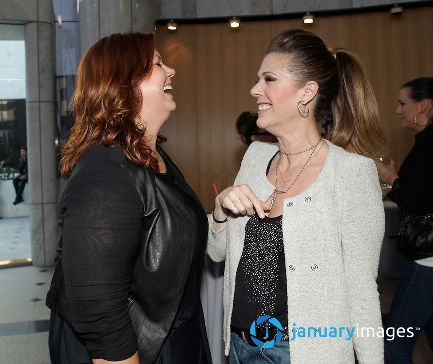 """BEVERLY HILLS, CA - JUNE 06:  Producer Kara Baker and Rita Wilson attend a Fox Searchlight screening Of """"The Art Of Getting By"""" at Clarity Theater on June 6, 2011 in Beverly Hills, California.  (Photo by Todd Williamson/WireImage)"""